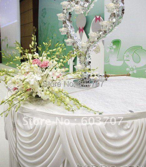 Aliexpress com  Koop Warm te koop tafel rok  10ft 29 u0026quot; witte ijs zijde tabel plint met