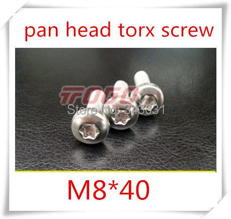 20PCS High Quality Stainless Steel 304 M8*40  Pan Head Torx Machine Screw<br><br>Aliexpress