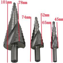 Envío gratis Triángulo de mango ranura espiral paso triangular pagoda multifuncional taladro taladros 4-32,4-20,4-12 de acero hss 4241