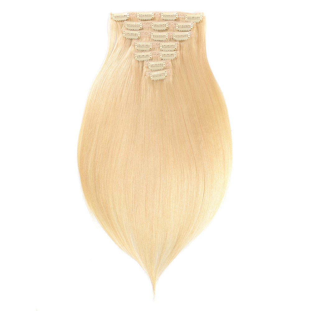 Remy Virgin Brazilian Hair Clip In Extensions 70g-220g Clip In Straight Hair Extensions Blonde Clip In Human Hair Extensions