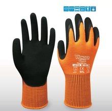 Warm Winter Cold Resistant Labor Glove Wonder Grip Garden Glove Gardening Safety Glove Latex Coated Work Glove(China (Mainland))