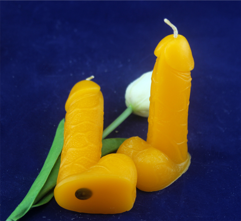 100% Natural beeswax hand made lovely Sex candles for Wonderful dating or party,shipping free(China (Mainland))