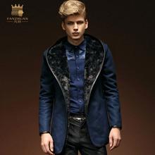 All men turn luxury coat button a major suit men's wool coat warm coat 14108(China (Mainland))