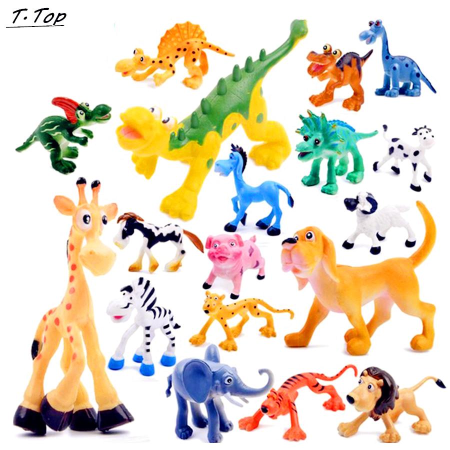3 style Wild Mini Animal Cute Plastic Diecast simulation figures decoration Toy Model for Children Kids(China (Mainland))