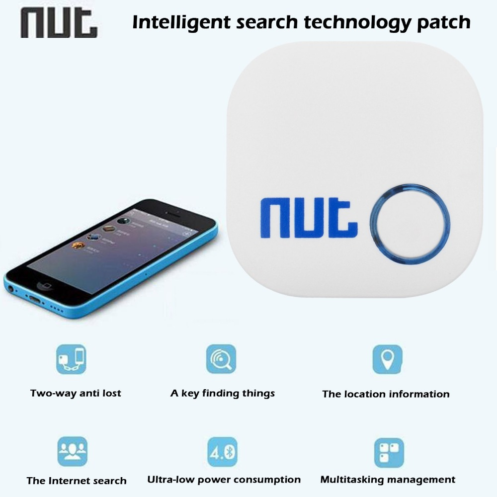 High Quality Nut 2 Two-way Bluetooth 4.0 Mobile Phone Anti-lost Alarm Smart Finder Patch For Keychain / Cellphone / Pet / Child