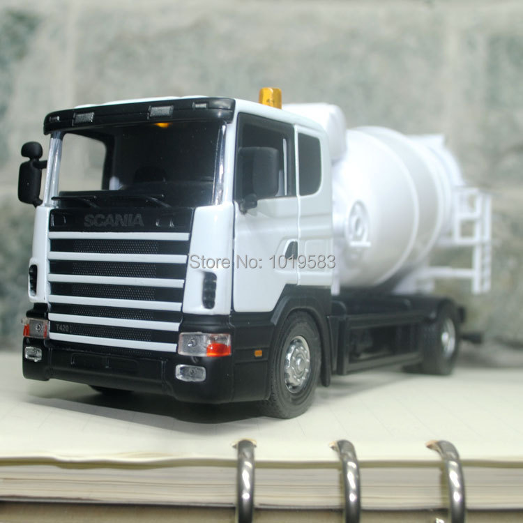 Brand New Very Cool Swden Scania Cement Mixer Truck 1/43 Scale Diecast Metal Car Model Toy For Gift/Children -Free Shipping(China (Mainland))