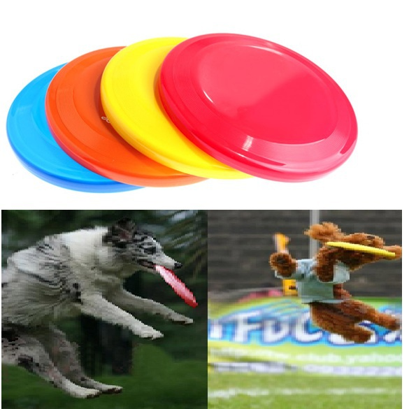 V1NF Brand New 22cm Safe Funny Pet Toy Dog Flying Disc Soft Frisbee Free Shipping(China (Mainland))
