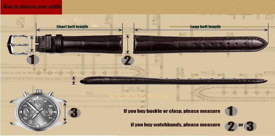 22 мм НОВЫЙ Черный Толстый Натуральная Кожа Часы Ремешок Ремешок Браслет