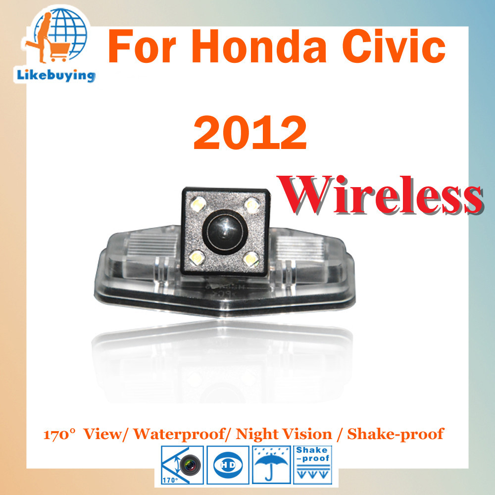 Wireless 1/4 Color CCD HD Rear View Camera / Parking Honda Civic 2012 Night Vision 170 Degree Waterproof - Shenzhen Being Lucky Trading Co.,Ltd store