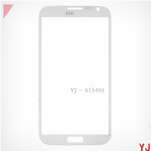 5 pcs/lot White Color Replacement for samsung galaxy note II 2 front glass N7100 N7105 i317 outer screen touch glass lens