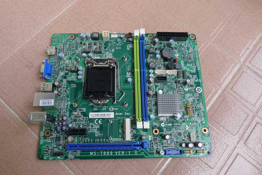Фотография original motherboard for ACER SX2885 MS-7869 V1.0 LGA 1150 DDR3 for I3 I5 I7 Cpu H81 Desktop motherboard Free shipping