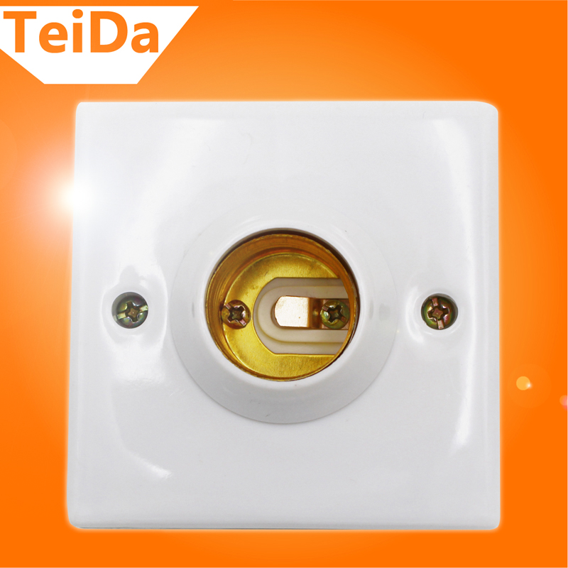 New Arrival E27 Socket Bulb Base Adapter Square LED Light Lamp Fixing Fitting Socket Connector Good Quality for Home Everywhere(China (Mainland))