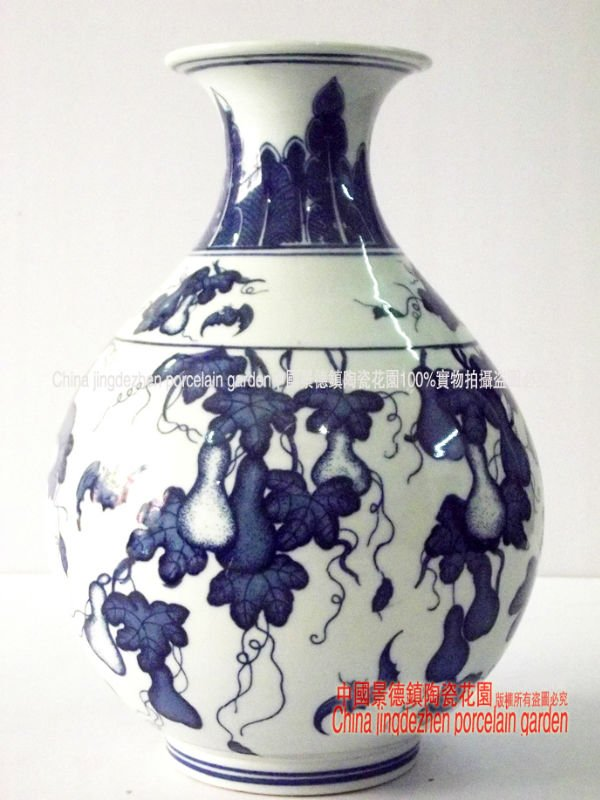 Free shipping chinese porcelain wedding decoration antique for Decorating with blue and white pottery
