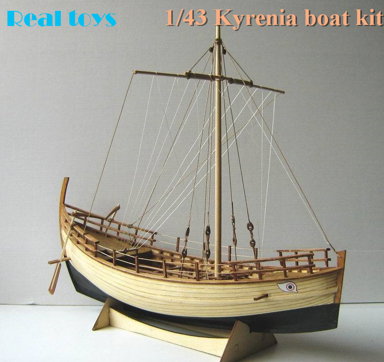 Classic wooden sailing boat 1/43 whole frame Greece Ancient Ship Kyrenia wooden boat assemble kit<br><br>Aliexpress