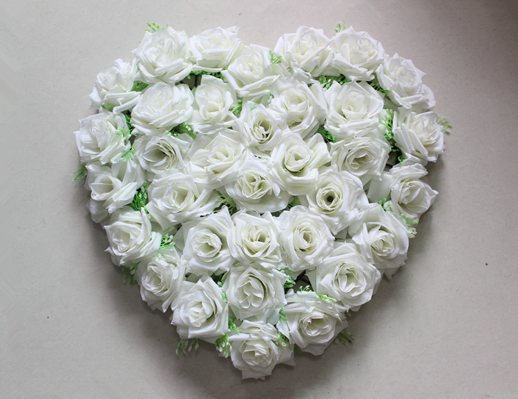 Heart-shaped Flower Rose Flower Disk Silk Love Wedding Decoration Artificial Flower Heart Lawn 40*40cm Size Carpet Decoration(China (Mainland))