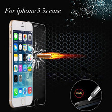 Discount Ultra Thin Tpu Explosion Proof 0.26mm Premium Tempered Glass Screen Protector Flim For Iphone 5 5s Hd Toughened F-183