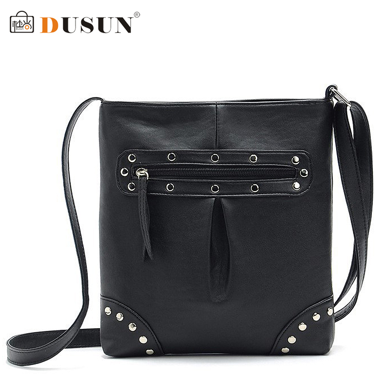 2015 Fashion Punk Rivet Shoulder Bag high quality women rivet leather bag Designer Vintage casual small bag ladies crossbody bag(China (Mainland))