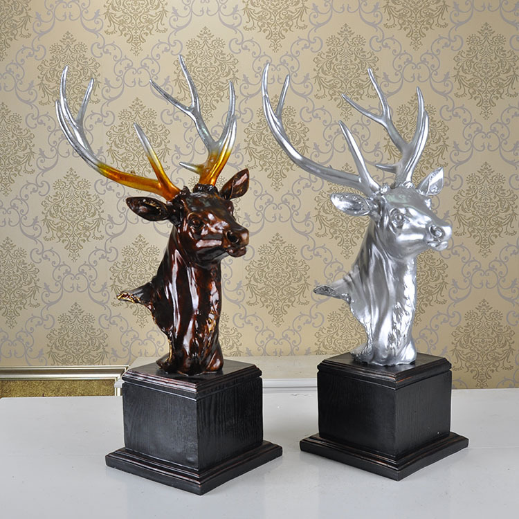 Modern minimalist living room decoration decoration Home Furnishing resin jewelry gifts housewarming gift deer antlers(China (Mainland))