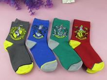 winter warm Harry Potter Socks unisex Thickened double layer knitted wool gryffindor Socks slytherin Ravenclaw Hufflepuff SQ129(China (Mainland))