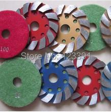 Envío gratis 4 » ( 100 mm ) * 20 piedra de renovación de suelo disco, molienda de hierro disco de corte para molienda granito, hormigón