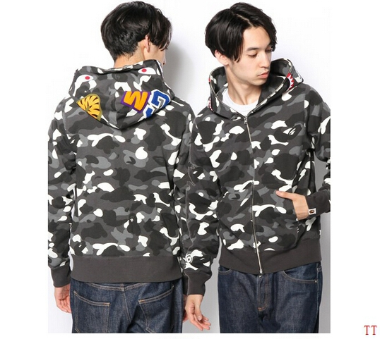 2015 Fall Winter street Tide brand Korea spell colorbape camouflage shark hip hop coats m l xl  -  Vivian Apparel Co,Ltd store