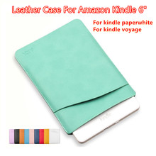 Hot Fashion PU Leather Slim Case For 6 inch Amazon Kindle, Cover For Kindle Paperwhite, Bag For Kindle Voyage, Free Shipping.(China (Mainland))