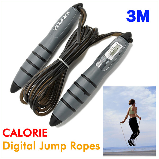 Hot Wholesale Intelligent CALORIE 3M Digital Skipping Jump Rope Counter Timer LCD