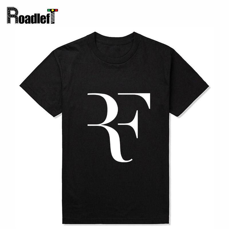Men & Women Roger Federer fans RF tennis sport t shirts Mens casual round collar short sleeve cotton t-shirt Man clothing tops(China (Mainland))