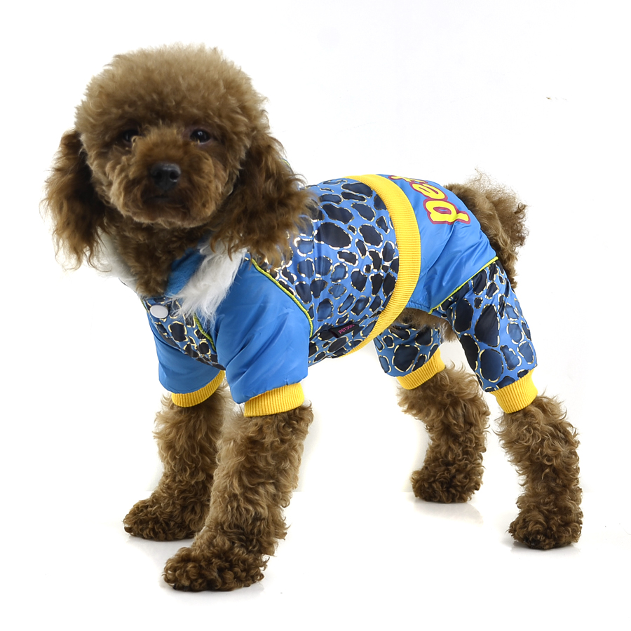 Cheap dog clothes New Camo Winter Dog Clothes with Reflective tape decorative Blue/Tartrazine/Rose pet clothes(China (Mainland))