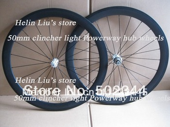 1390g Only 700C full carbon 50mm clincher wheels with Powerway  R13 hub