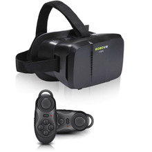 Original BOBOVR II Virtual Reality Oculus Rift DK2 Headset 3D VR Glasses for 4″-6″ Smartphone Black + Black Bluetooth Gamepad