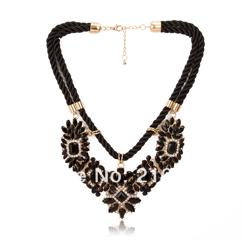 wholesale 2014 necklace pendant choker bib chunky rope