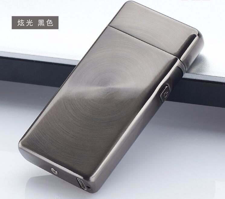 ถูก 1ชิ้นMulticolorไฟแช็กไฟฟ้าArcลมแบบชาร์จแอลอีดีไม่มีก๊าซโลหะUSBเบาอุปกรณ์การสูบบุหรี่