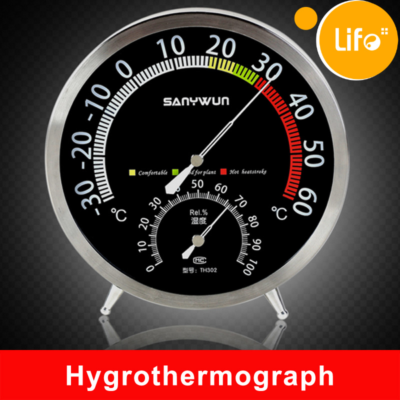 Stainless Steel Mechanical Hygrometer&amp;thermometer,Temperature Humidity Meter Tester with bracket #TH-019<br><br>Aliexpress