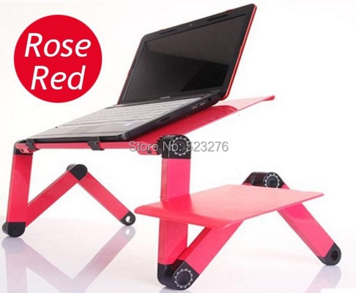 New 360 degree Portable Folding Laptop Computer Notebook Tablet Mount Stand Desk Bed Sofa with double cooling fan mouse(China (Mainland))