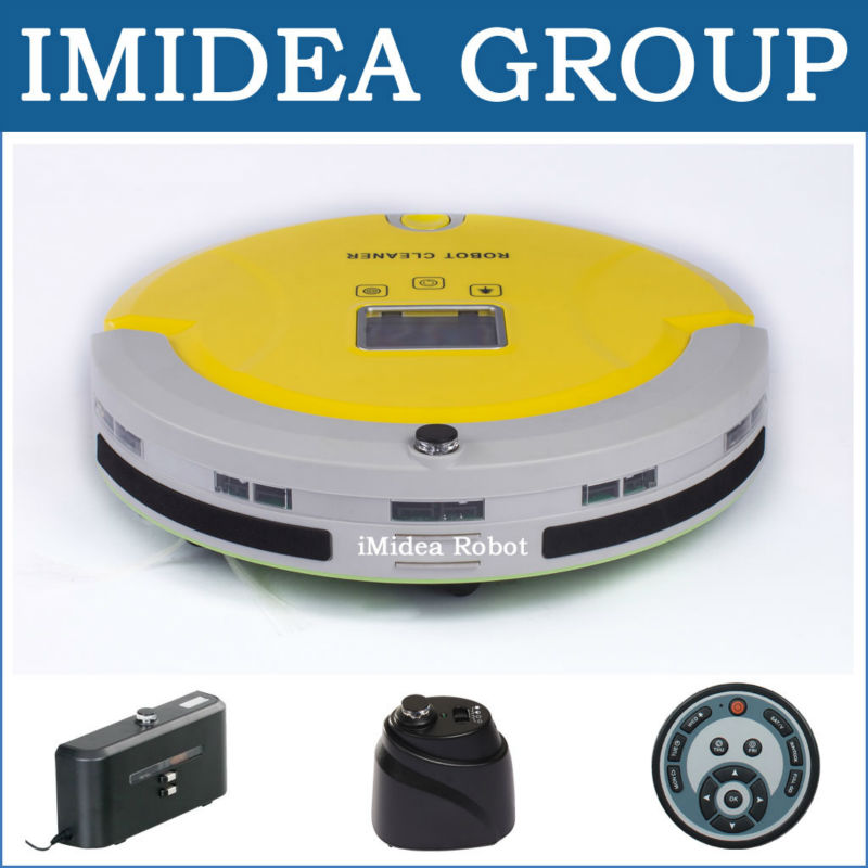 Multifunctional Vacuum Cleaning Robot Sweep,Vacuum,Mop,Sterilize,LCD,Touchpad,Schedule,Auto Charge,2 Virtual Wall, Avoid Bumping(China (Mainland))