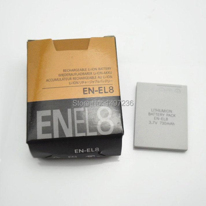 EN-EL8 EN EL8 ENEL8 Camera Battery for Nikon COOLPIX S1 S2 S3 S4 S5 S6 S7 S7C S8 S9 S51 S50 S52 P1 P2 L1 L2 MH-62(China (Mainland))