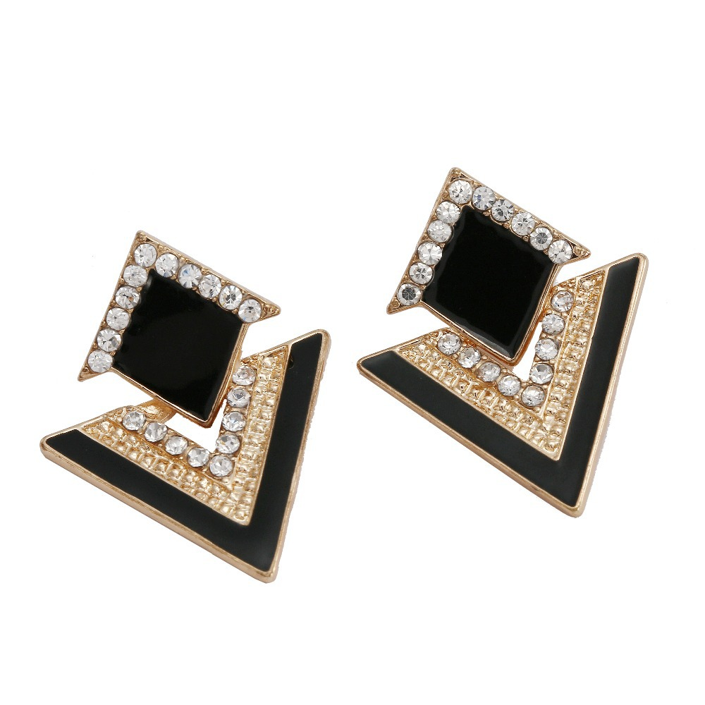 Fashion Jewelry Womens Earring Chromophous Summer Style Triangle Earrings For Women Vintage Brand Crystal Stud Earrings E1111(China (Mainland))