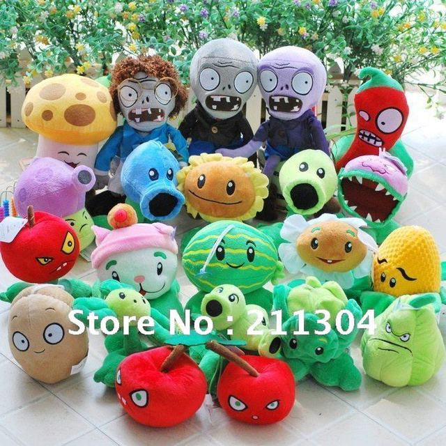 Free Shipping for 1 piece zombie hot game Plush Toys, Zombies plush doll,children kids game, boys girls best gift birthday