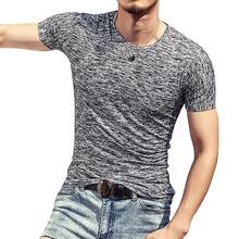 ファッション男性 Tシャツ夏のスポーツトップ Tシャツメンズ服半袖カジュアル O ネックコットン Tシャツスポーツウェア(China)