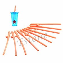 10pcs Hen Night Adult Fun Party Plastic Willy Shape Straw Dicky Sipping Straw(China (Mainland))