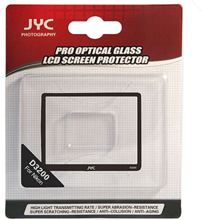 Photo Studio Accessories Camera JYC Pro LCD Screen optical GLASS Protector Cover For NIKON D3200(China (Mainland))