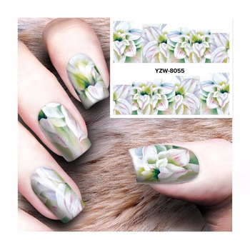 WUF 1 Sheet Nail Art Water Decals Transfer Sticker Charming Fantastic Flower Pattern Nails Decor Tools 8055