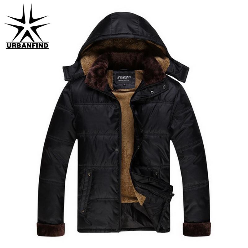 Super Warm Men Winter Thick Coats With Hat Plus Size M-3XL Natural Color Down Jackets Man Chaquetas Hombre