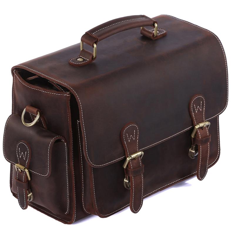 TIDING Vintage cowhide leather camera bag shoulder messenger bag for DSLR camera and lens 1104(China (Mainland))