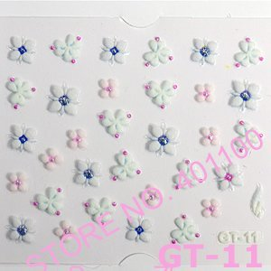 24X 3D Japanese Style Nail Art Sticker Decal Color Flowers Nail Stickers Nail Art Decoration Dropshipping [Retail] SKU:B0042X