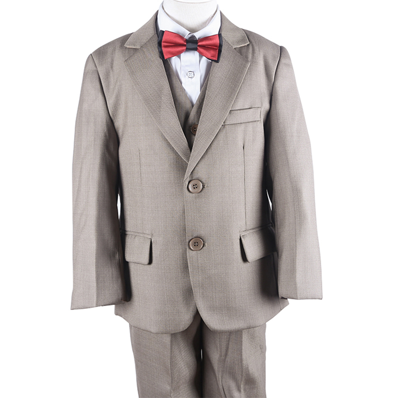 2-7 years Kids Blazers Suits 6Month 12Month 18Month Khaki Toddler Boys Formal Suit Boys Party Evening Suit 3 pcs Set(China (Mainland))