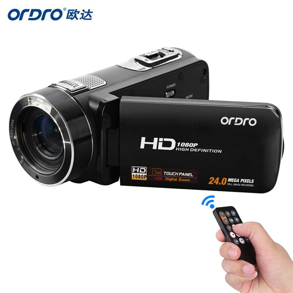 ORDRO HDV-Z8 Full HD 1080P Digital Video Camera 24MP 16x Digital Zoom Mini Camcorder with Digital Rotation LCD Touch Screen(China (Mainland))