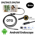 HD720P 2MP 8mm Android USB Endoscope Camera 6LED Snake Flexible USB Endoscope 1M 2M 3 5M