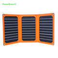 Efficiency Folding Solar Panel Charger PowerGreen 7 Watts Double Micro USB Ports Solar Power Bank Battery Backpack for Phone